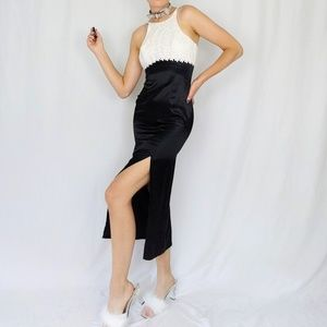 90's 5.7.9. lace and satin formal